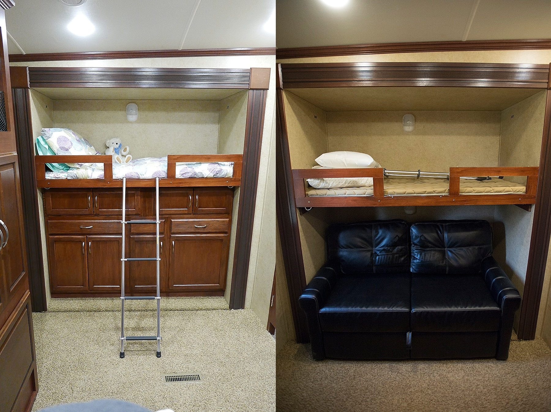 Rv Bunk Bed Room Remodel Bay Hill Fifth Wheel