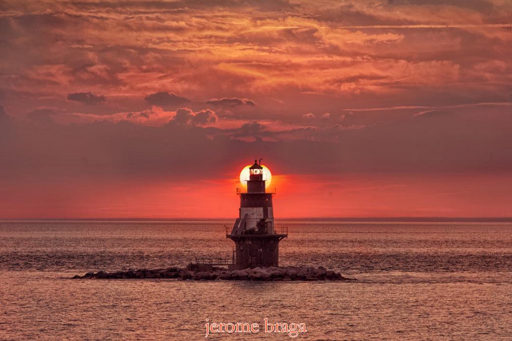 Lighthouse, Orient Point, Sunset