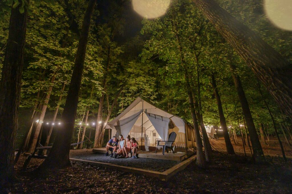 what is it like camping in a glamping tent